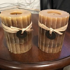 2 pier1 candles. Green